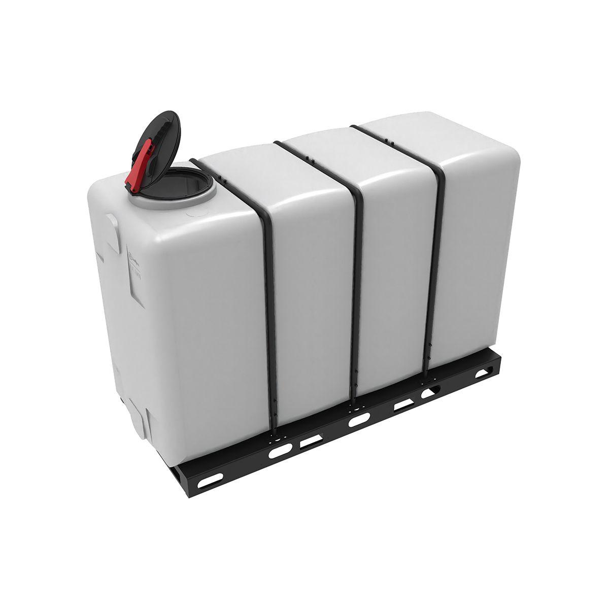Емкость KR 4000 пластиковая прямоугольная в обрешетке с откидной крышкой