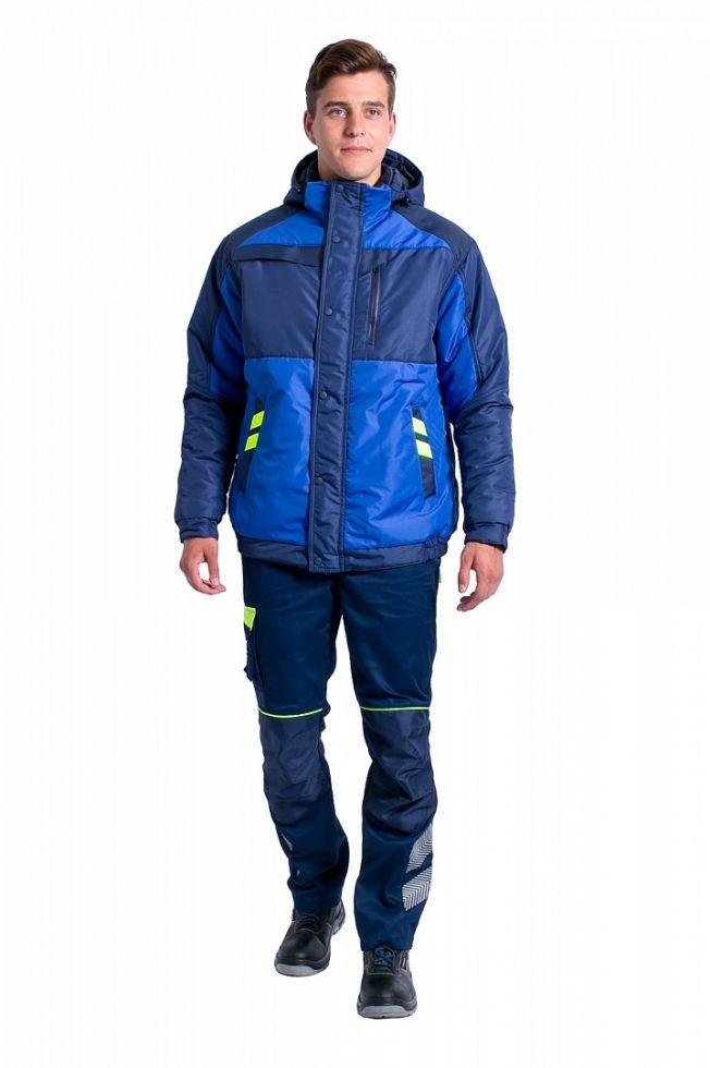 Куртка демисезонная мужская PROFLINE SPECIALIST (тк.Таслан), васильковый/т.синий