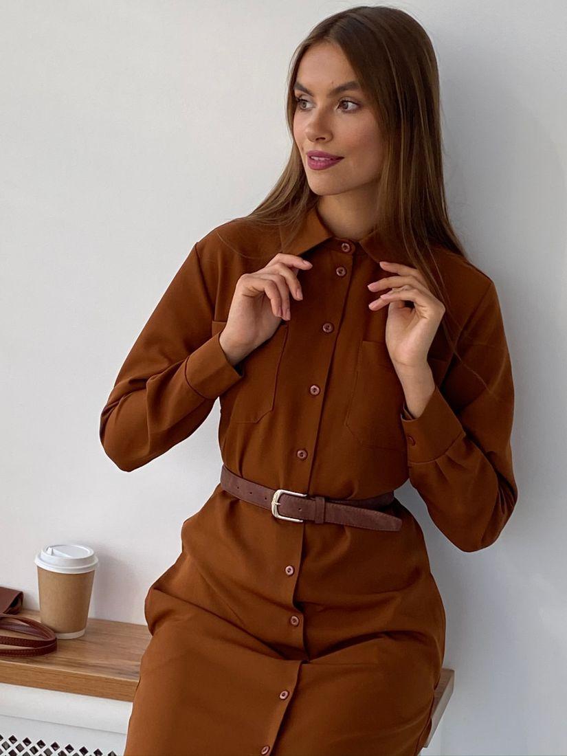 """s2350 Платье-рубашка в цвете """"burnt sugar"""""""