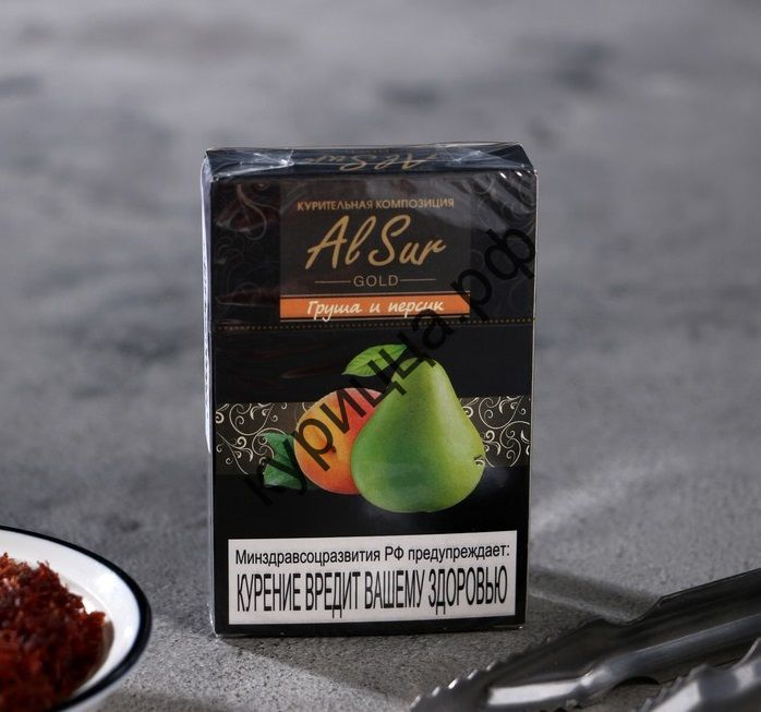Бестабачная смесь Al Sur Груша и Персик (Pear and peach), 50 гр