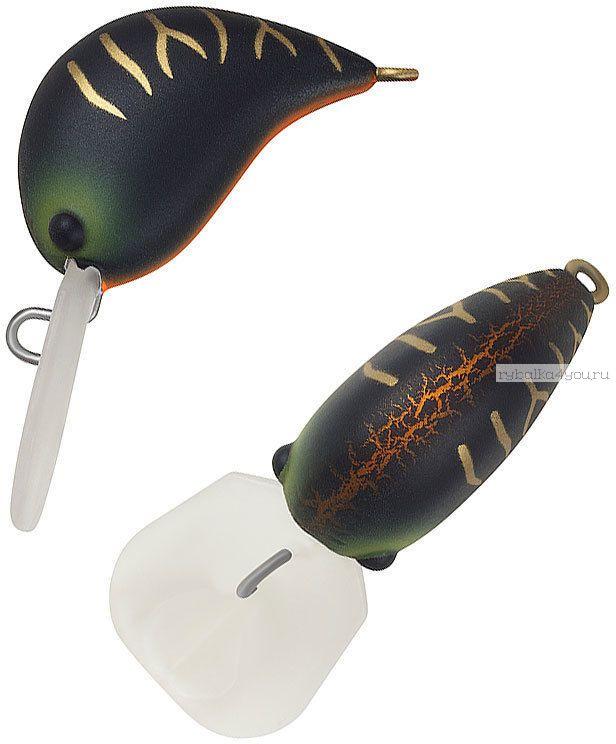Воблер Strike Pro Nuts 25 S 25 мм / 2,6 гр / Заглубление: 0 - 1 м / цвет:  A208S Black Mat Tiger