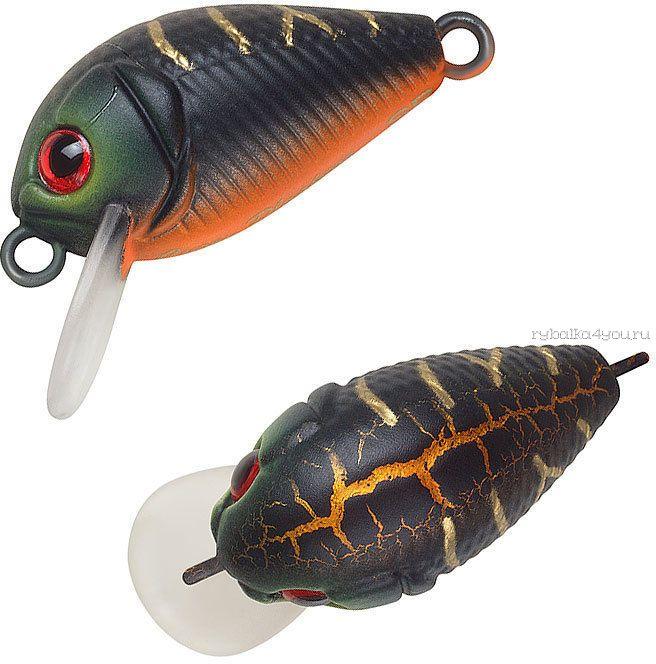 Воблер Strike Pro Crazy Plankton 21 мм / 1,3 гр / Заглубление: 0 - 0,4 м / цвет:  A208S Black Mat Tiger