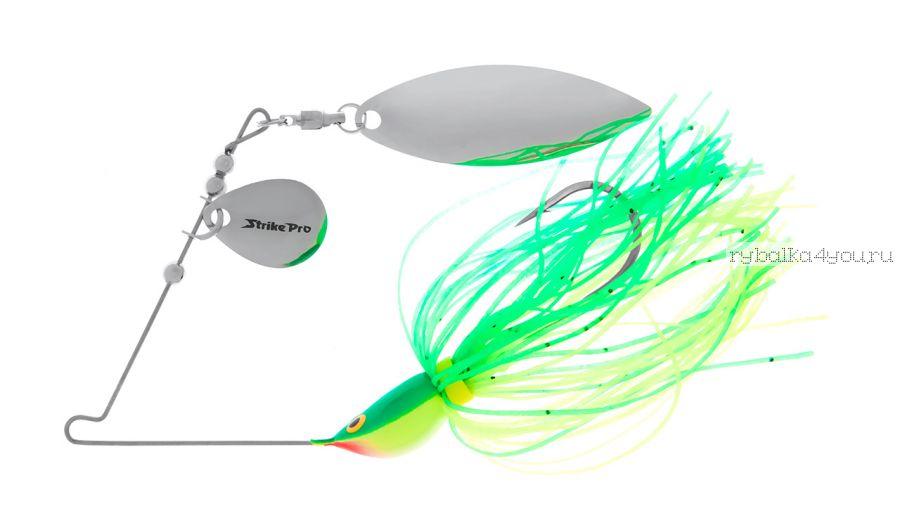 Спиннербейт Strike Pro Spinner Bait 14 мм / 13,8 гр / цвет:  C1C-W3C (196-06/Chrome)
