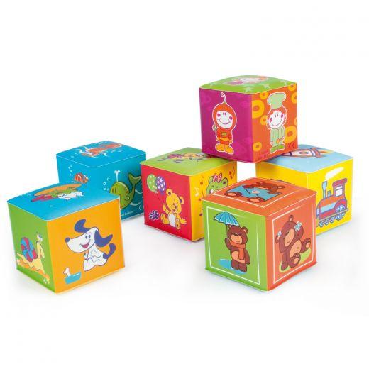 Мягкие обучающие кубики 6 штук