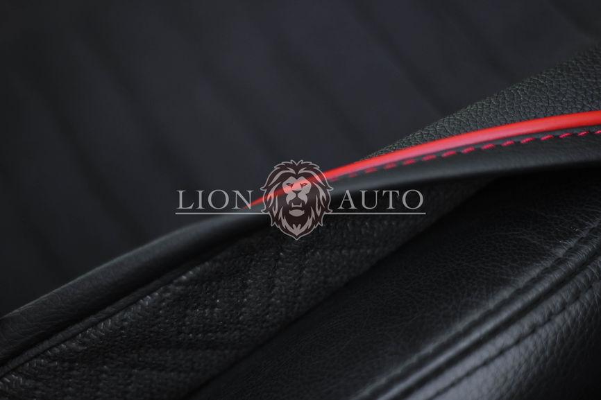 Накидки на сиденья из велюра Premium (красный кант)