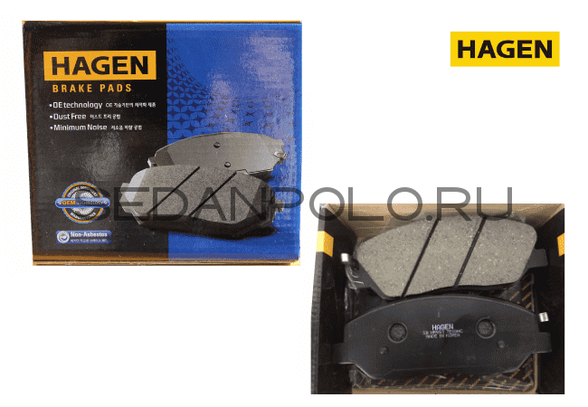 КОЛОДКИ ТОРМОЗНЫЕ ПЕРЕДНИЕ HAGEN CERAMIC 1ZE/1ZG VOLKSWAGEN POLO SEDAN/SKODA RAPID