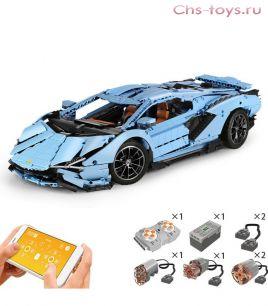 Конструктор  MOULD KING Lamborghini Sian FKP 37 Blue Version RC APP 13056  3868 дет