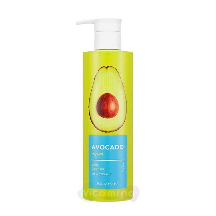 Holika Holika Гель для душа с авокадо Avocado Body Cleanser, 390 мл