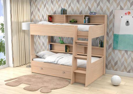 Двухъярусная кровать Golden Kids 1 (корпус дуб молочный)