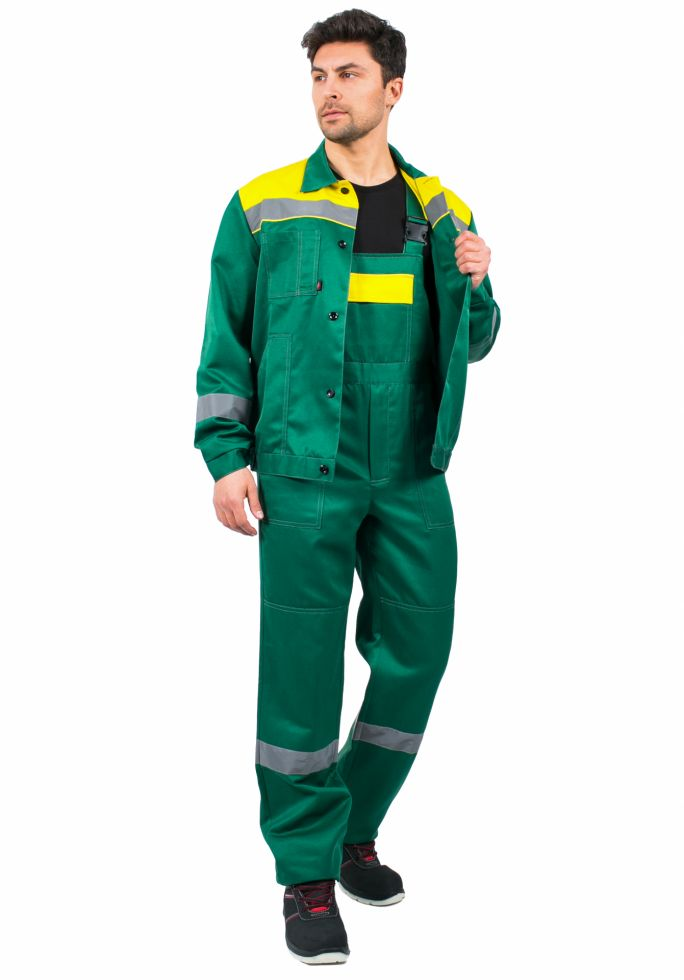 Костюм Легион-2 СОП (тк.Смесовая,210) п/к, зеленый/желтый