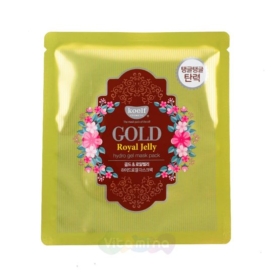 Koelf Гидрогелевая маска для лица с экстрактом мёда Gold & Royal Jelly Mask Pack,30 г