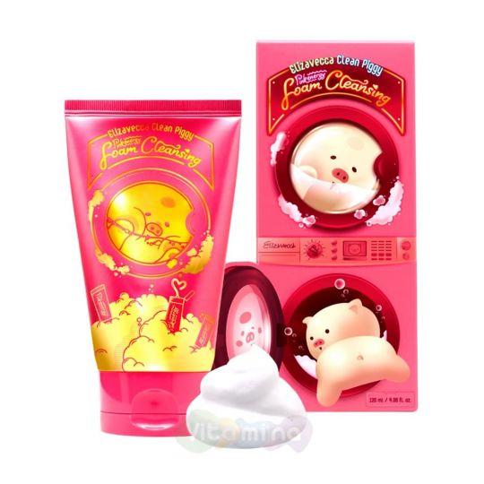 Elizavecca Ягодная пенка для умывания Clean Piggy Pinkenergy Foam Cleansing, 120 мл