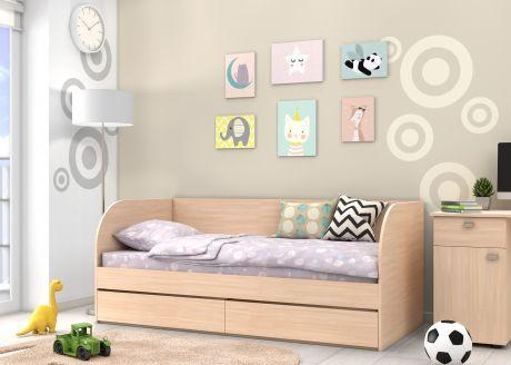 Детская кровать Golden Kids 7 (корпус дуб молочный)