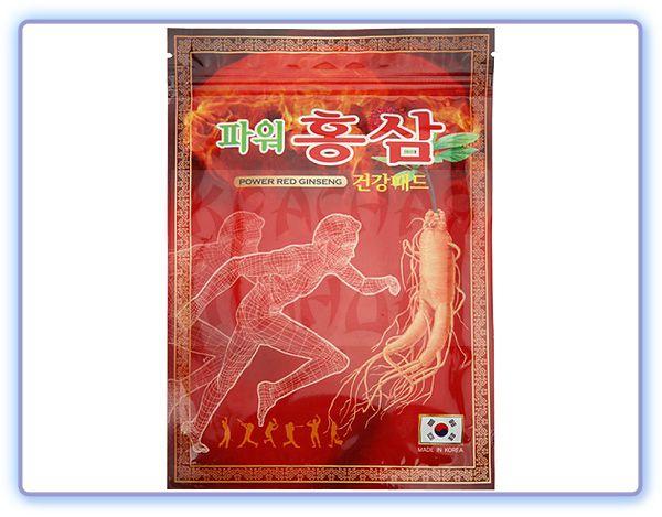 Greenon Пластырь Power Red Ginseng с красным женьшенем