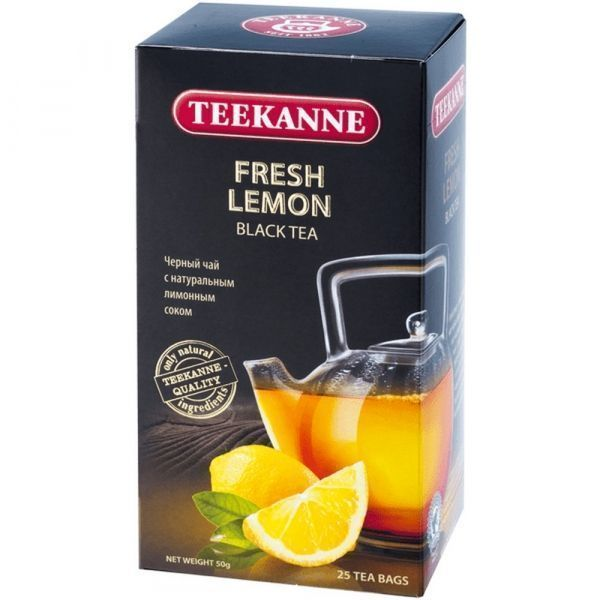 Чай Teekanne Фреш Лимон черный 25пак*2г