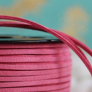 Замшевый шнур Пыльно-розовый