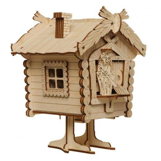 Сборочная деревянная модель избушка бабки-Ёжки