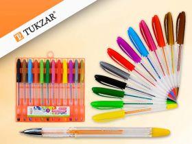 Набор цветных гелевых ручек с блёстками, 12 цветов