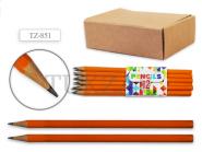 Tukzar Чернографитный карандаш, шестигранный 12 шт, без ластика заточенный