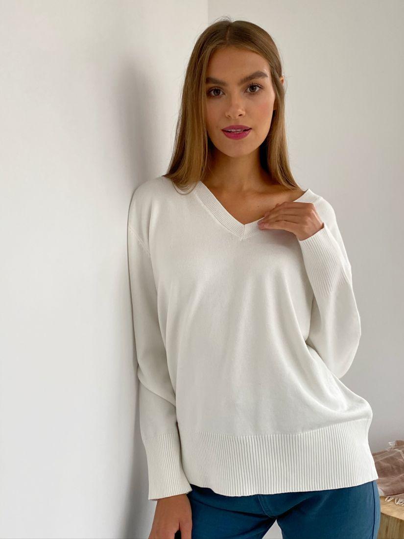 s2358 Пуловер белый