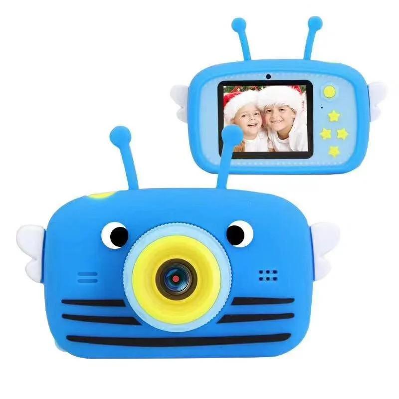 Детский цифровой фотоаппарат с селфи камерой, Пчела