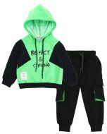 """Спортивный костюм для мальчиков 3-7 лет Bonito """"Be fast & strong"""" зеленый"""