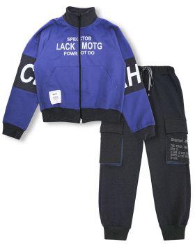 """Спортивный костюм для мальчиков 8-12 лет Bonito """"Lack CEAH"""" темно-сиреневый"""