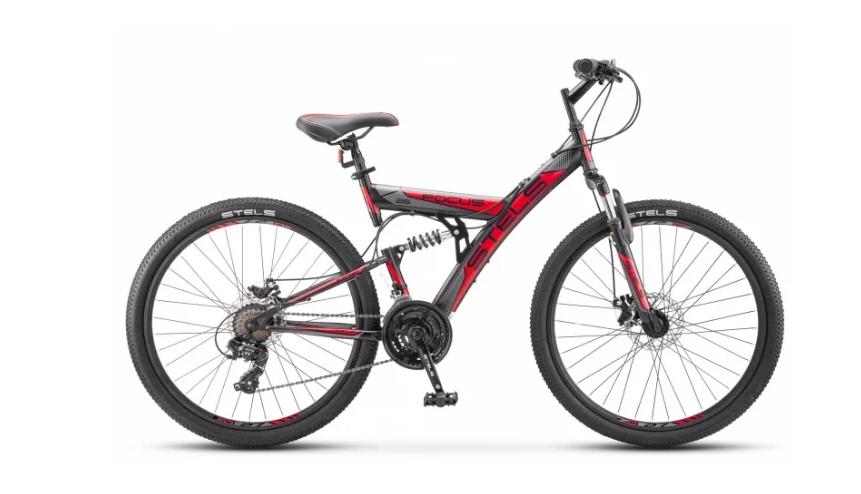 Горный (MTB) велосипед STELS Focus MD 26 21-sp V010 (2018) Черный/красный
