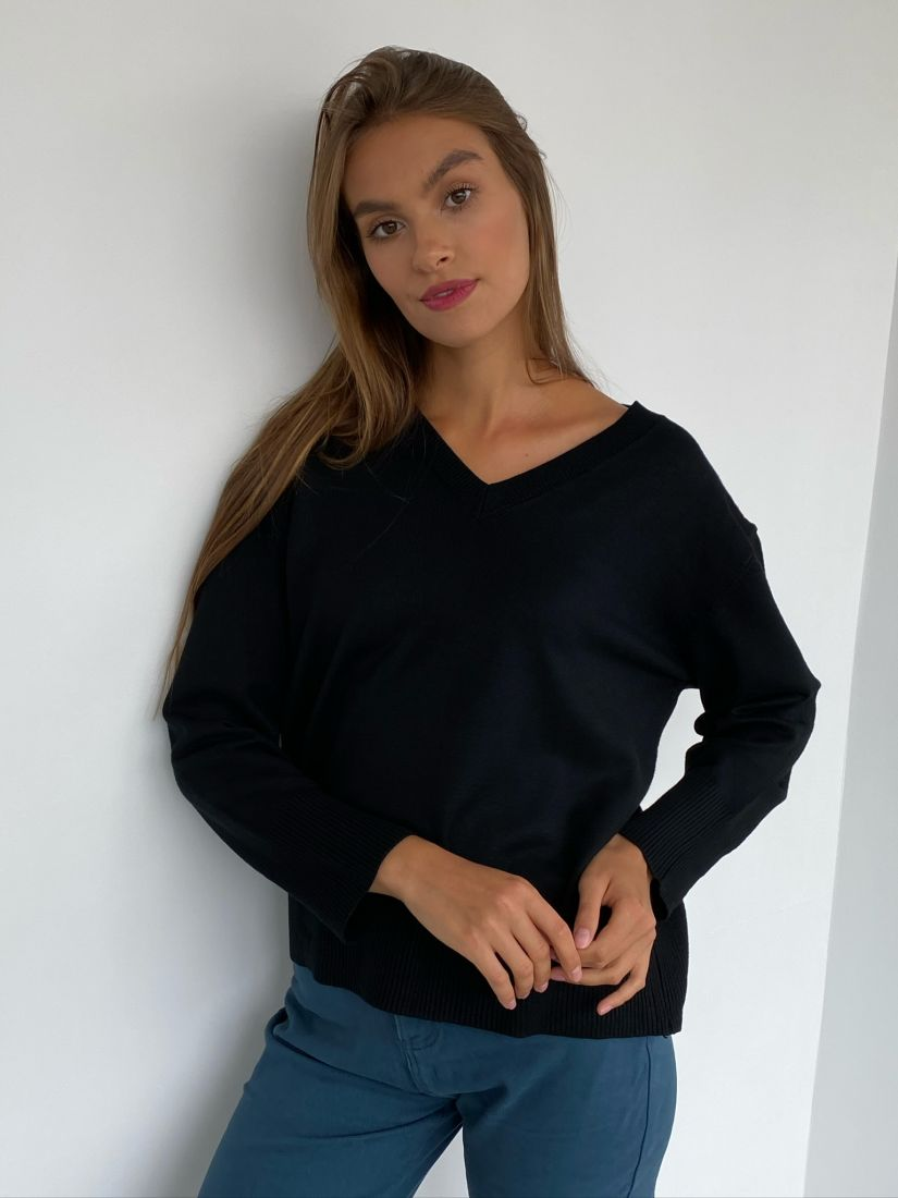 s2379 Пуловер чёрный