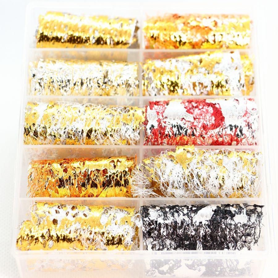 Фольга цветная на сетке 10 шт. набор 4651
