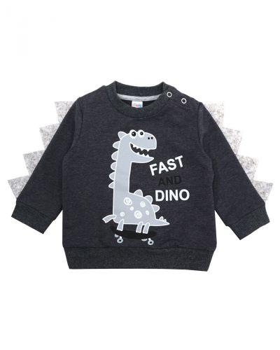 "Свитшот для мальчика Bonito kids ""Dino"" темно-серый"