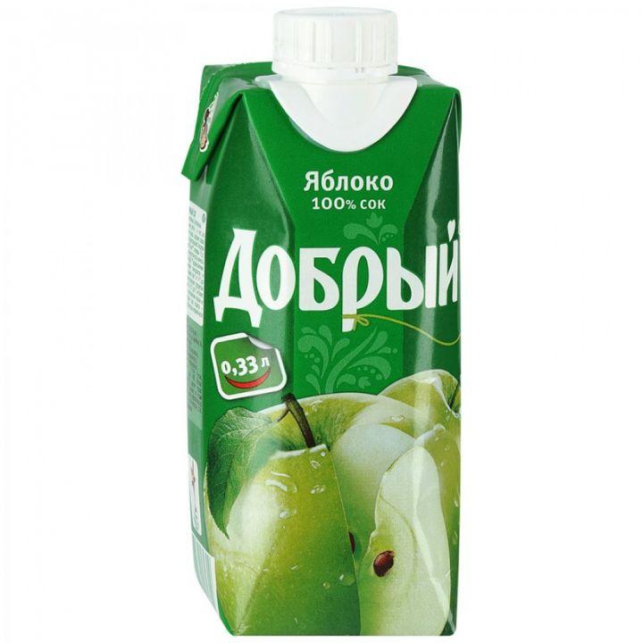 Сок Добрый 0,33л Яблочный