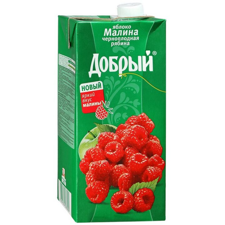 Нектар Добрый 2л Малина/Рябина/Яблоко