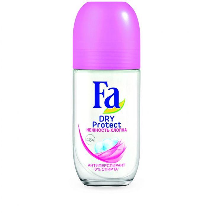 Дезодорант Fa 50мл Roll Dry Protect Нежность Хлопка