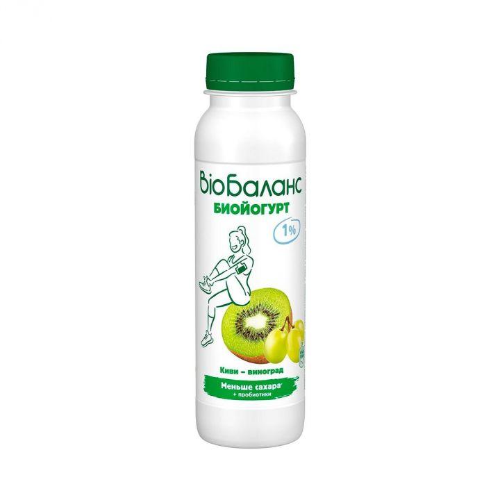 Биойогурт Био-Баланс 1% 270г Киви/виноград Юнимилк