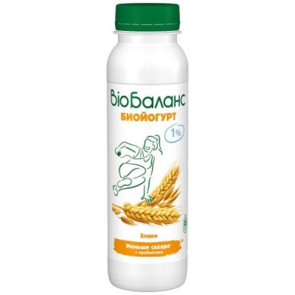 Биойогурт Био-Баланс 1% 270г Злаки Юнимилк