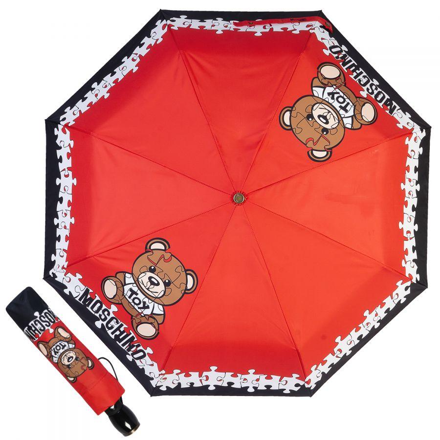 Зонт складной Moschino 8046-OCA Puzzle Bear Red