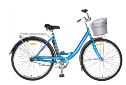 Городской велосипед STELS Navigator 345 28 Z010 с корзиной Синий