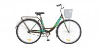 Городской велосипед STELS Navigator 345 28 Z010 с корзиной Коричневый