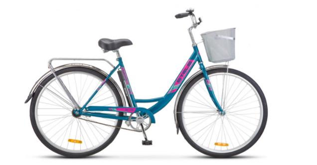 Городской велосипед STELS Navigator 345 28 Z010 с корзиной Морская волна