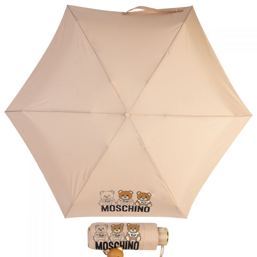 Зонт складной Moschino 8061-SuperminiA Bear Scribbles Beige