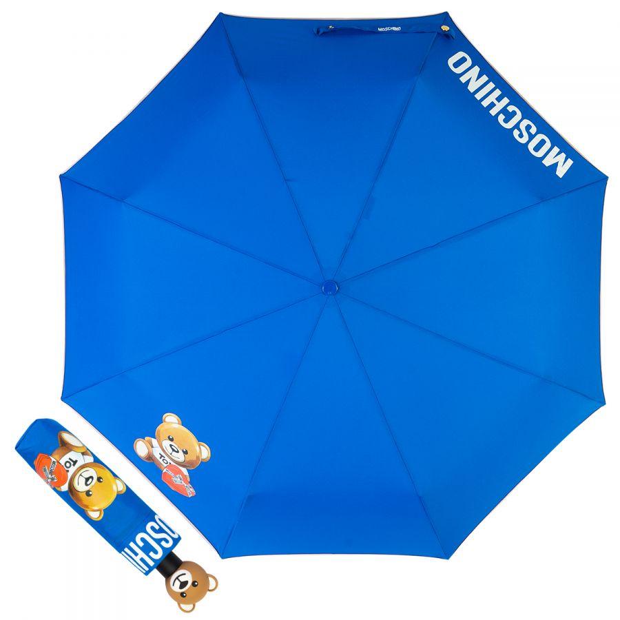Зонт складной Moschino 8080-OCA Gift Bear Blue