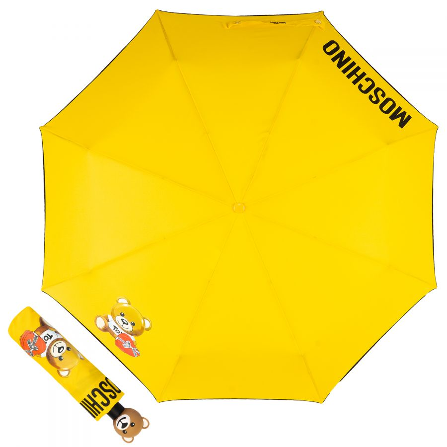 Зонт складной Moschino 8080-OCA Gift Bear Yellow