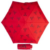 Зонт складной Moschino 8560-SuperminiA Logo Allover Red