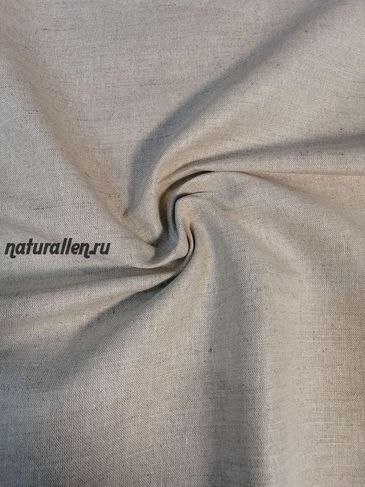 Лен костюмно-плательный цвет натуральный
