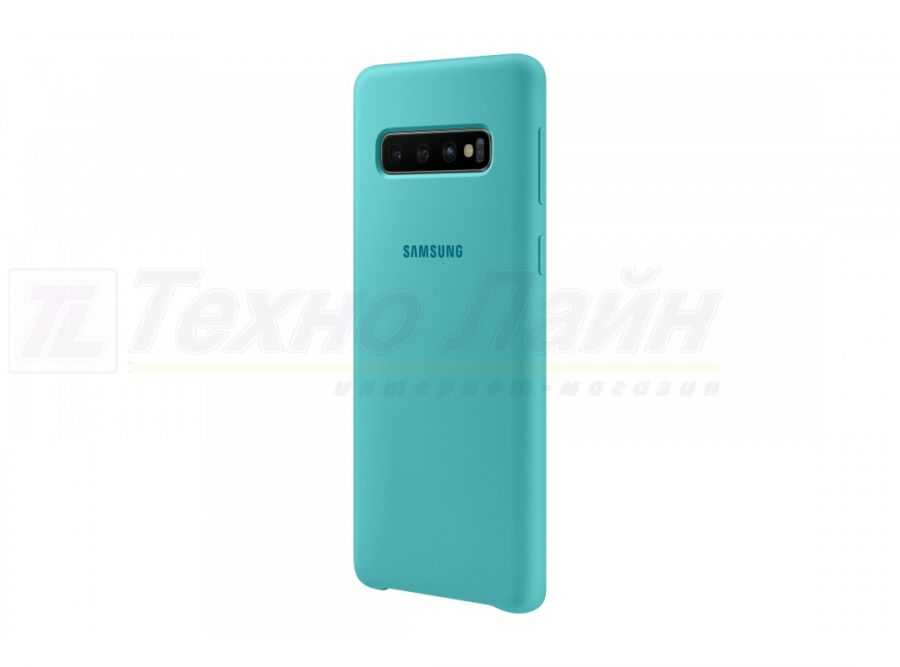 Чехол Samsung Silicone Cover S10 green