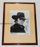 Автограф: Джонни Кэш. Фото 1989 года. Редкость.