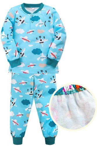 """Пижама с начесом для мальчика 7-10 лет Bonito kids """"Air"""" голубая"""