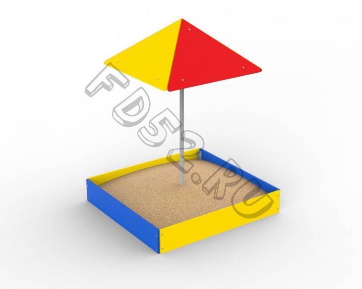Песочница с зонтом 1,5х1,5 352.01