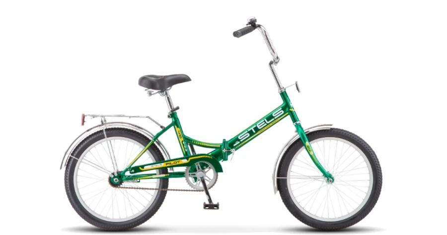 Городской велосипед STELS Pilot 410 20 Z011 Зеленый/желтый